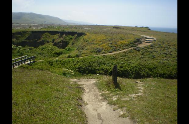 The Kortum Trail along the coast.