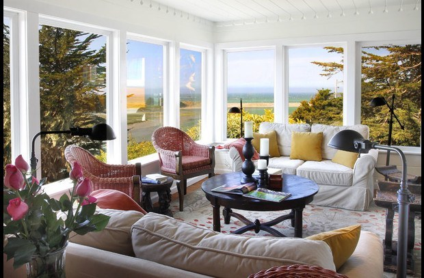 Relax & enjoy the views or bird watch from sun-up to sunset in the living room.
