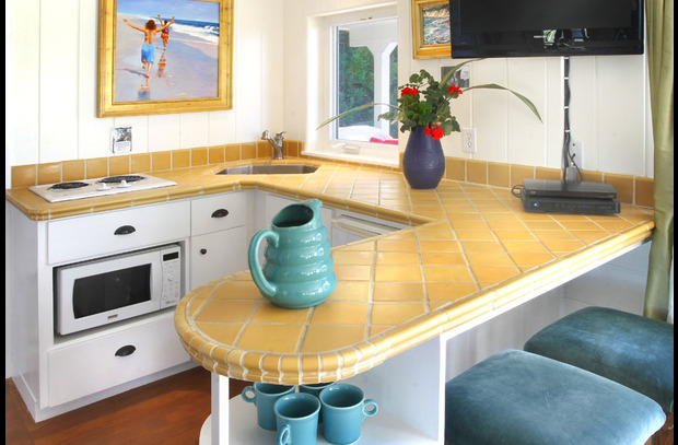 Ground floor den kitchenette with microwave & mini refrig perfect for a getaway